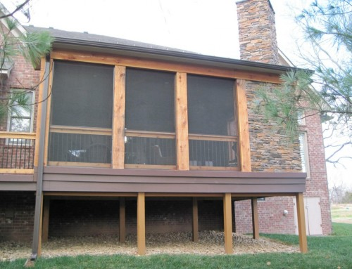 Composite Deck Addition with Covered Porch