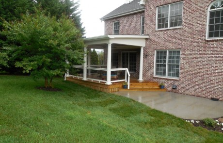 Covered Porch with deck addition